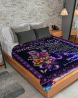 Blanket Mother's Day  For Mom Daughter In Law Gift For Mother In Law Purple So Lucky To Have You In My Life Sherpa Fleece Blanket