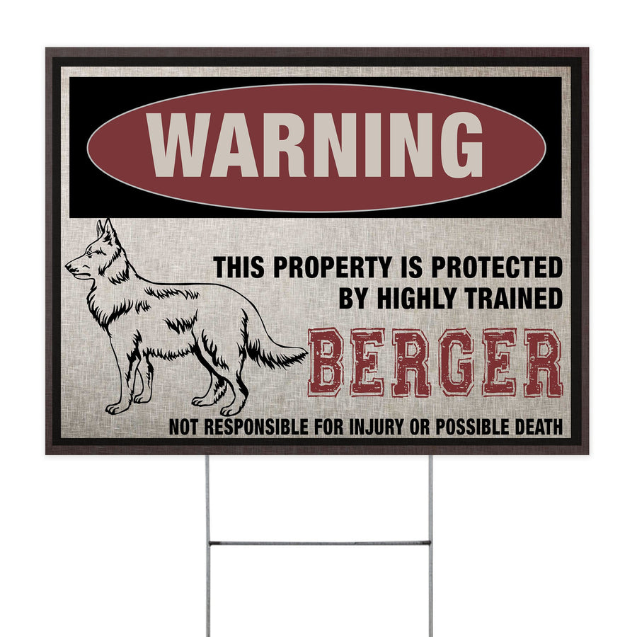Berger This Property Is Protected - Yard Sign
