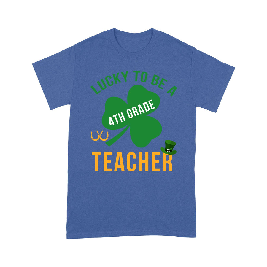 Shamrock Patrick's day Lucky To Be A Teacher - Patrick's Day T-shirt