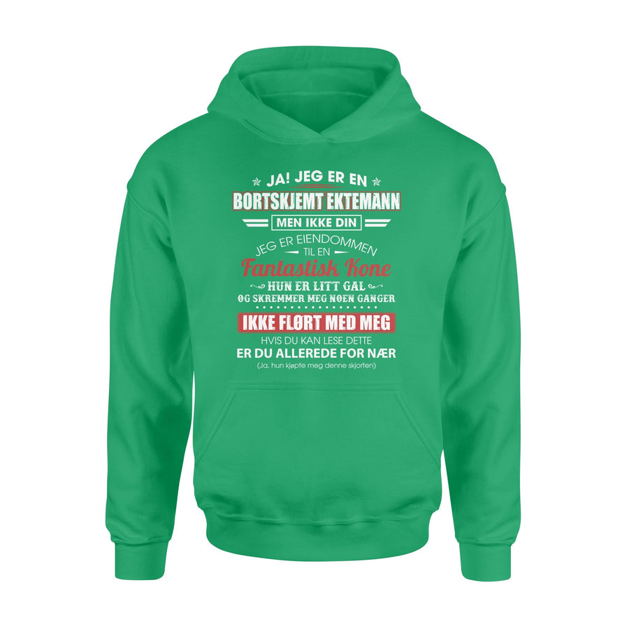 To Husband Hoodie Jeg Er En Bortskjemt Ektemann men Ikke Din - Valentine's Day Gifts - Valentine Gift For Husband - Hoodie Valentine For Husband
