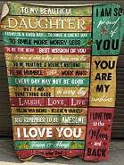 Dad To My Beautiful Daughter Today Is A Good DayToday Is A Good Day To Have A Great Day To Smile More Worry Less To Be The Very Best Version Of You Fleece Blanket