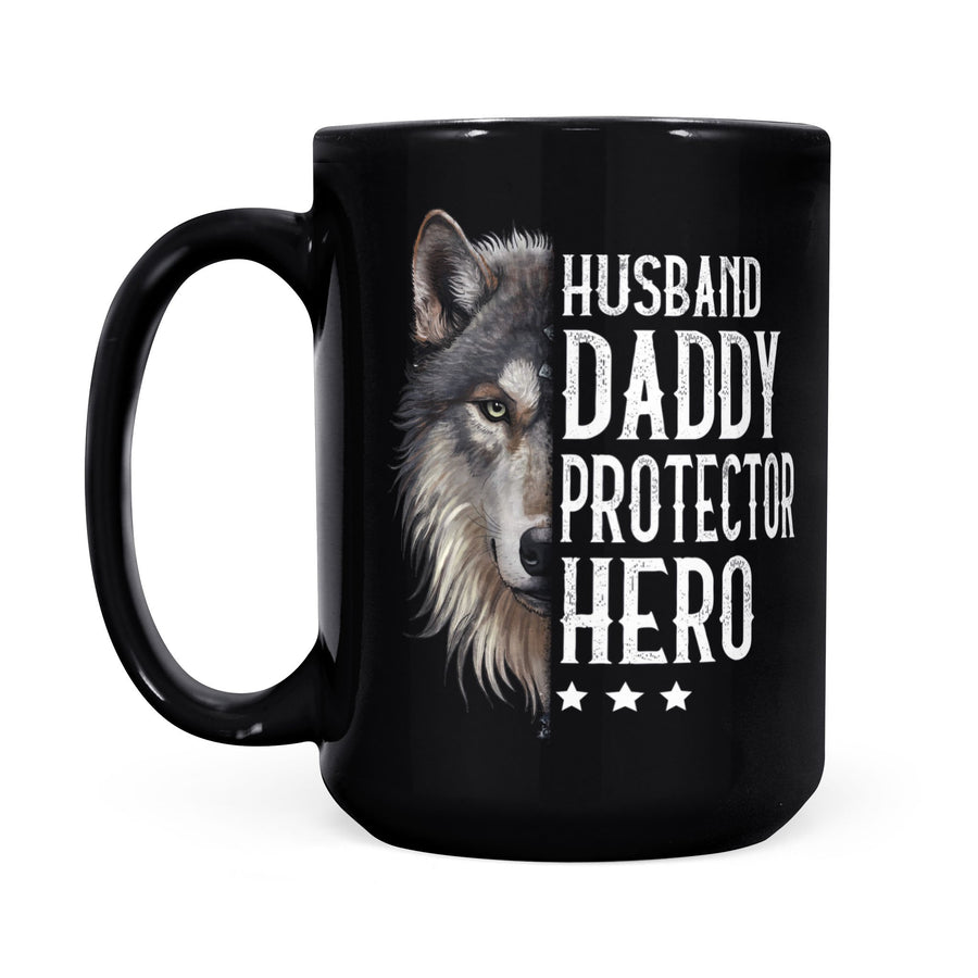 Wolf To Husband Mug Husband Daddy Protector Hero - Valentine's Day Gifts - Valentine Gift For Husband - Mug Valentine For Husband