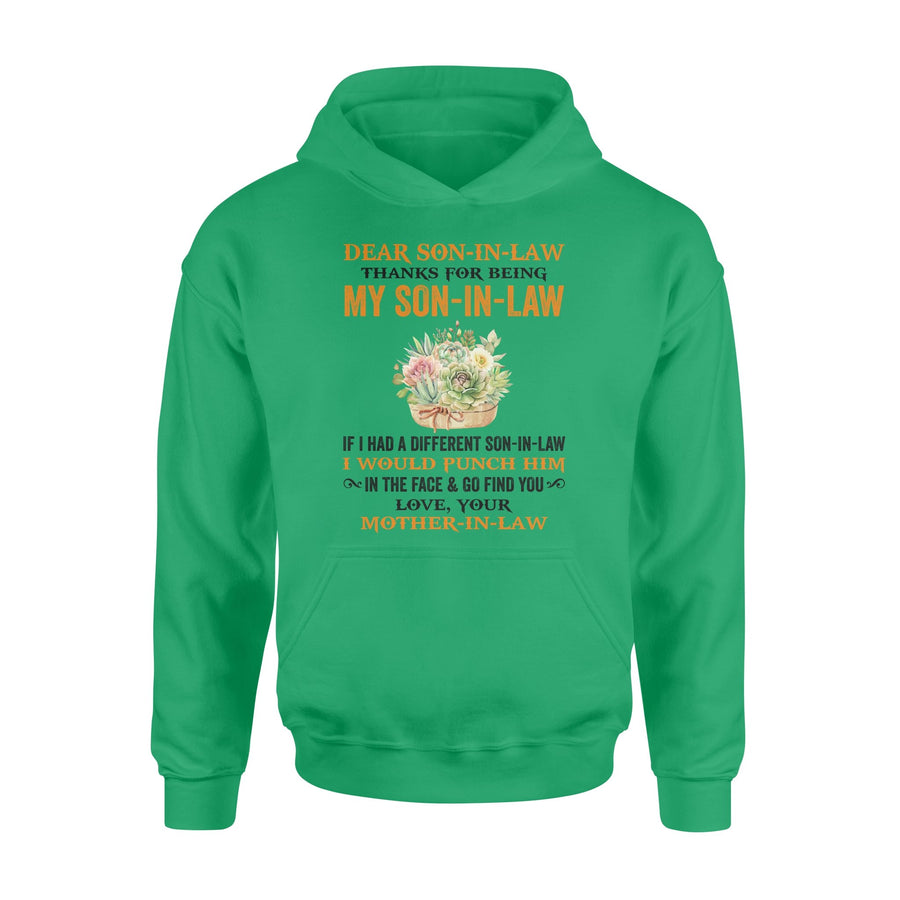 Yellow Flower Mom-In-Law to Son-In-Law Hoodie Thanks My Son-In-Law I Would Punch Him