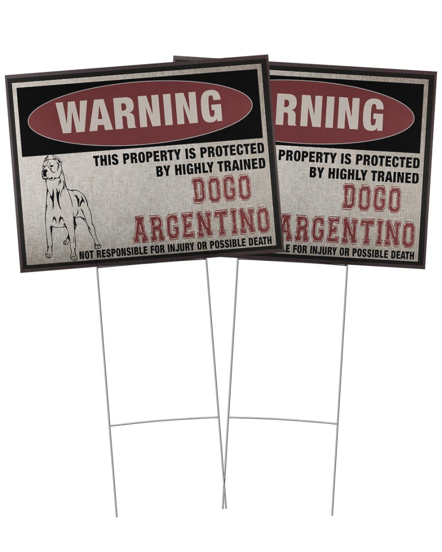 Dogo Argentino This Property Is Protected - Yard Sign