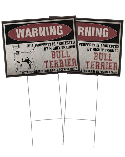Bull Terrier This Property Is Protected - Yard Sign
