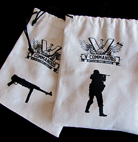 V-Commandos Cloth Bags - USA|Sacs en tissus V-Commandos - USA