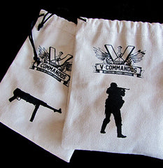 V-Commandos Cloth Bags - USA|Paire de sacs en tissus V-Commandos - USA