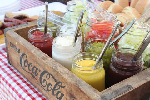 This Is A Great Idea If Youre Hosting An Outdoor Picnic Style Or BBQ Baby Shower Set Up Rustic Serving Station By Arranging Your Condiments And