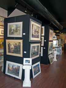 Towers of original art at Imagery