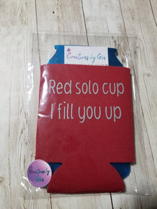 Red Solo Koozies