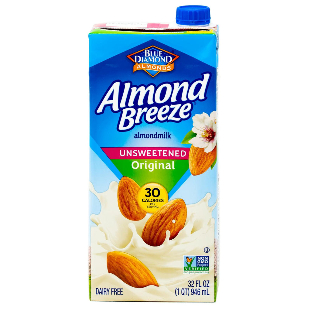 Almond Breeze Almondmilk  Original Unsweetened  Dairy Free 32 oz