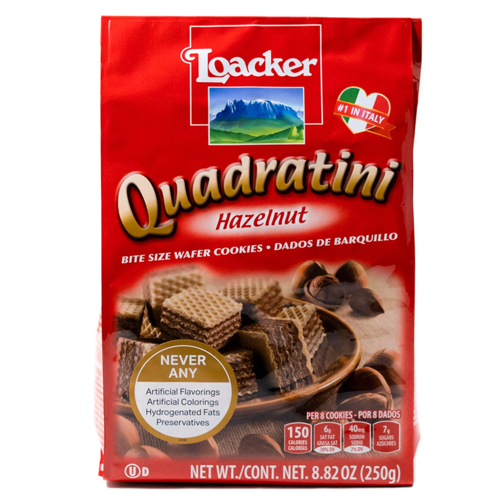 Loacker Wafer Cookies Quadratini Hazelnut 8.82 oz