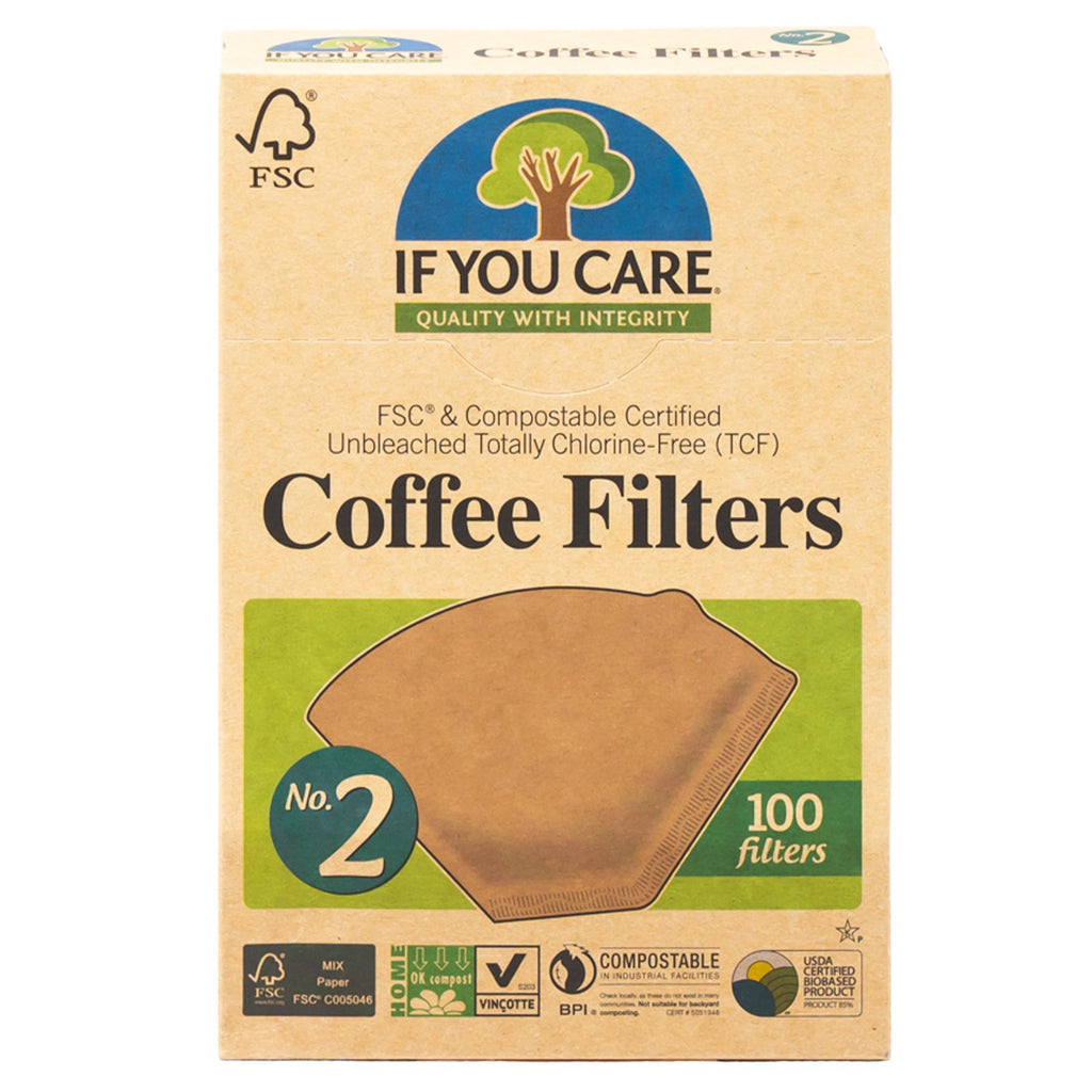 If You Care Coffee Filters No. 2 Compostable 100 ct