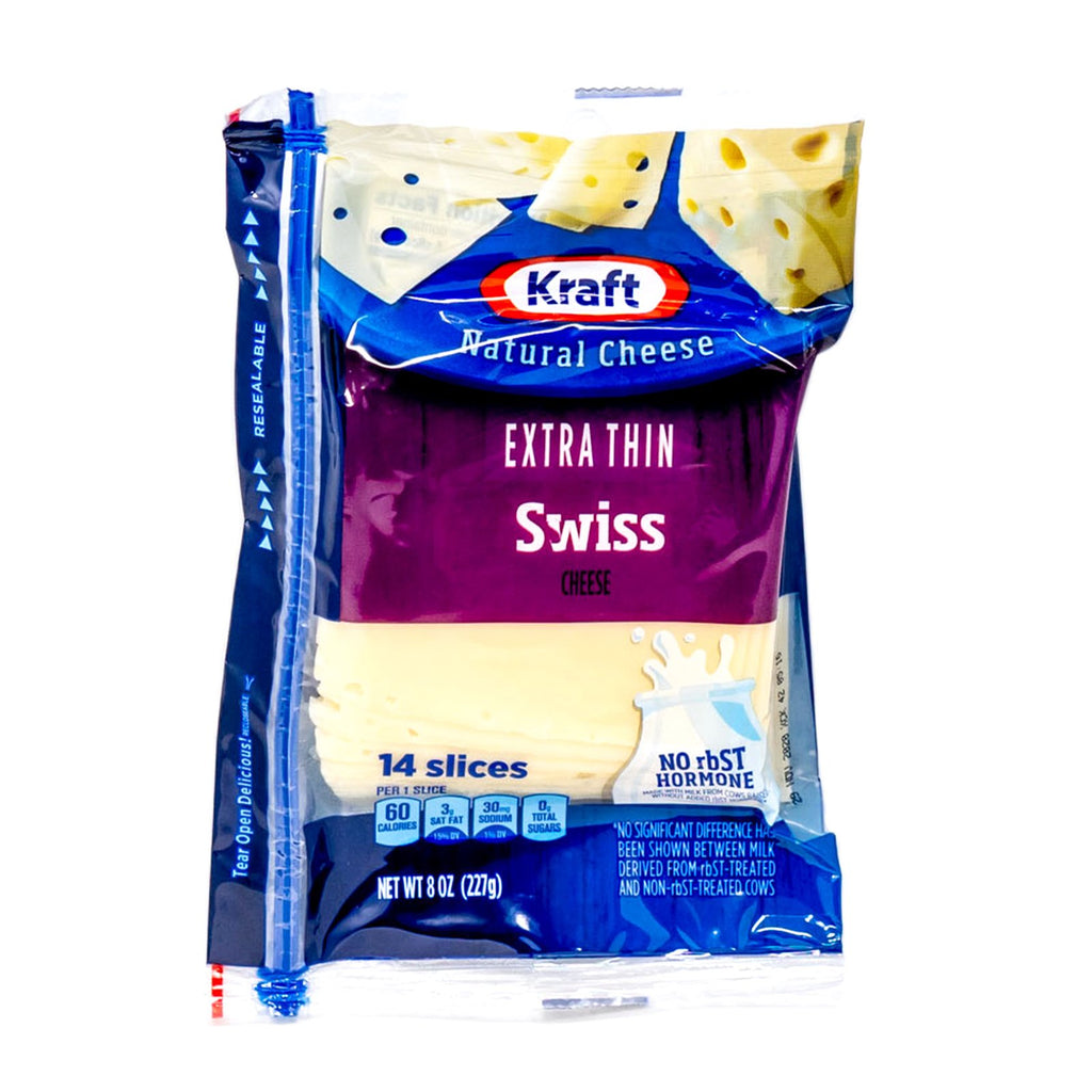Kraft Cheese Swiss Extra Thin 14 Slices 8 oz