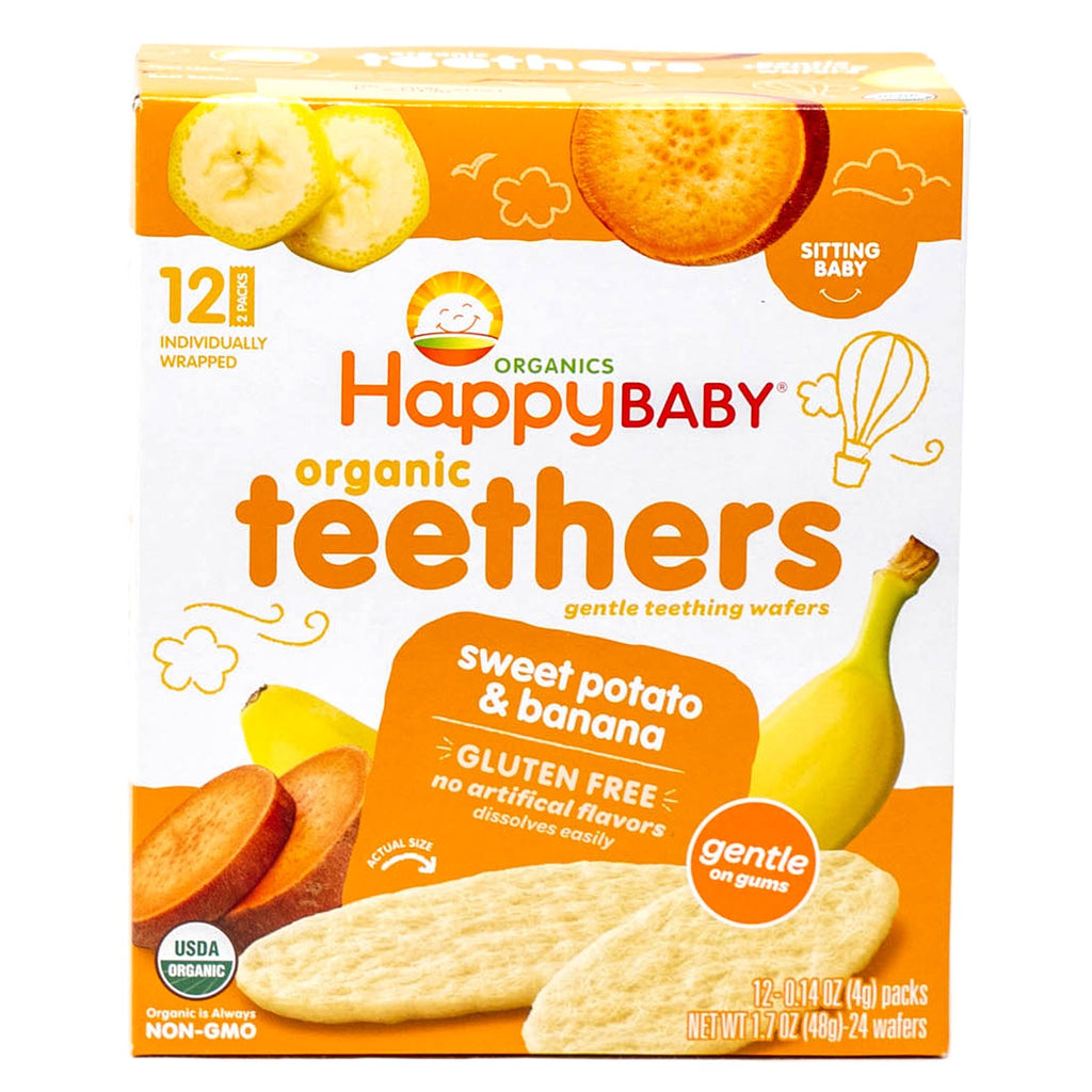 Happy Baby Teethers Sweet Potato & Banana Organic 12-0.14 oz