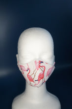 Load image into Gallery viewer, White & Pink Flamingo Face Mask
