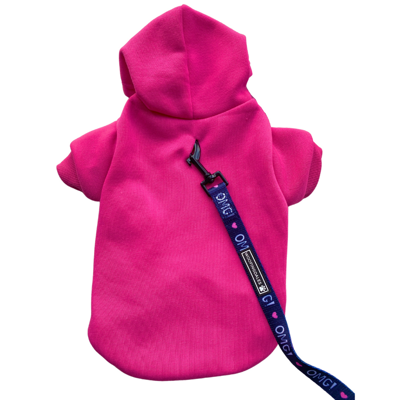 Woofingdales RESORT WEAR FUCHSIA PINK dog hoodie