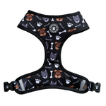 "Woofingdales Reversible ""Comfort"" Dog Harness ""Woofing Good Time"" Dog & Leopard Print"