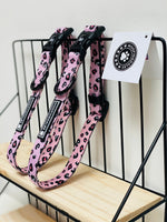 "Woofingdales Adjustable Comfort Dog Collar ""Pink Leopard Candy Collection"""