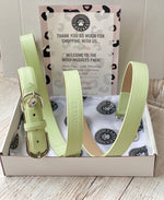 Pistachio Green Portofino Collection Luxury Leather Dog Lead