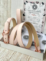 Gelato Pink Portofino Collection Luxury Leather Dog Lead