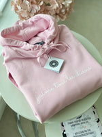 "Soft Pink Oversized ""j'aime tous les chiens"" Hoodie - For Dog Owners"