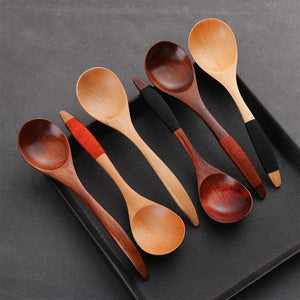 1PC Coffee Spoon Wooden Spoon Bamboo Kitchen