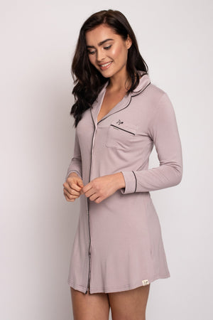 Bamboo Nightshirt in Oyster