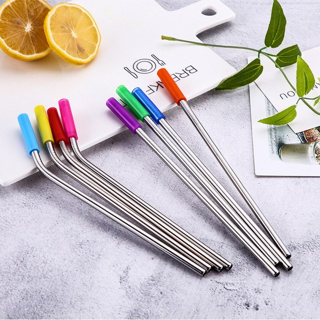 Long Stainless Steel Metal Drinking Straws With