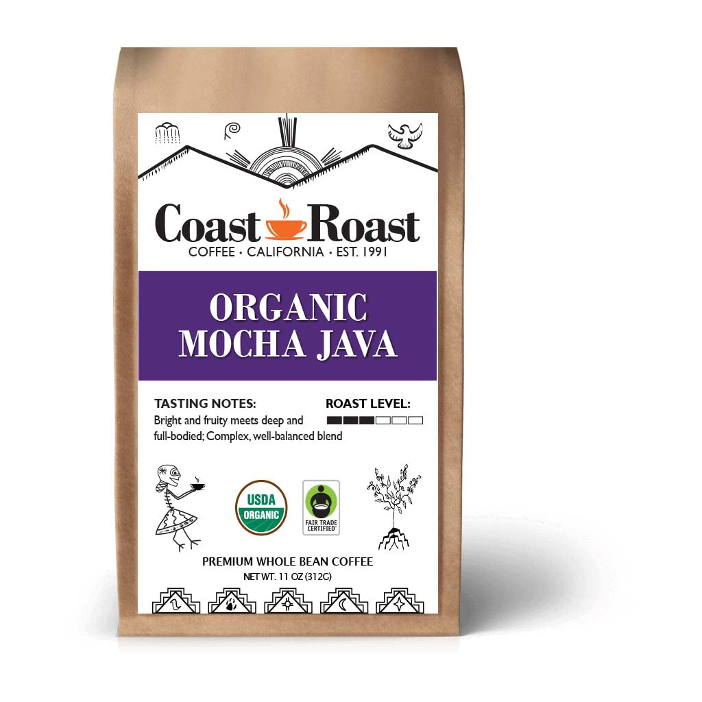 Mocha Java Whole Bean Organic Coffee Blend
