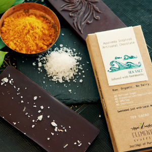 Sea Salt with Turmeric Chocolate Bar - Pack of 3