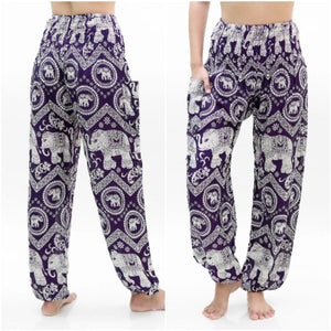 Women Boho Elephant Pants