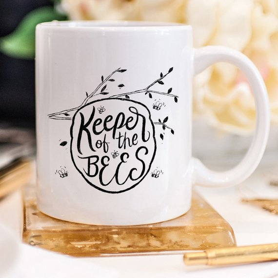 Keeper Of The Bees Coffee Mug, Bee Hive Coffee