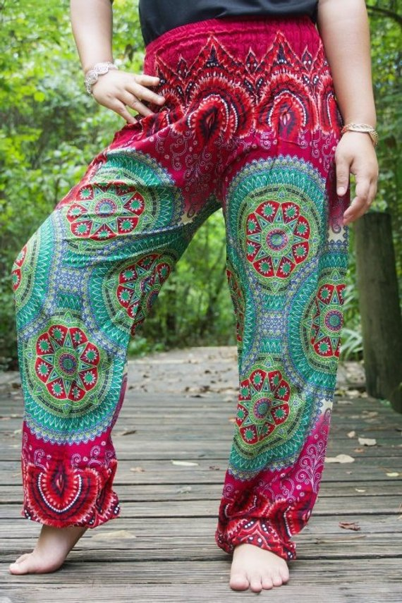 Women Boho Geometric Pants