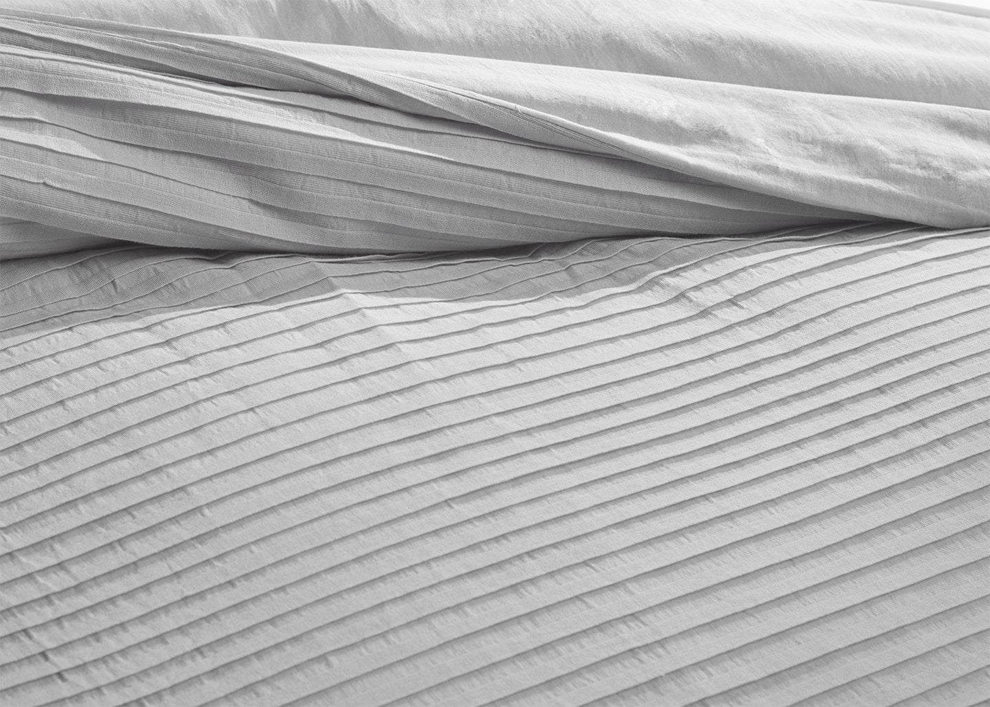100% Organic Cotton Woven Pleated Duvet set