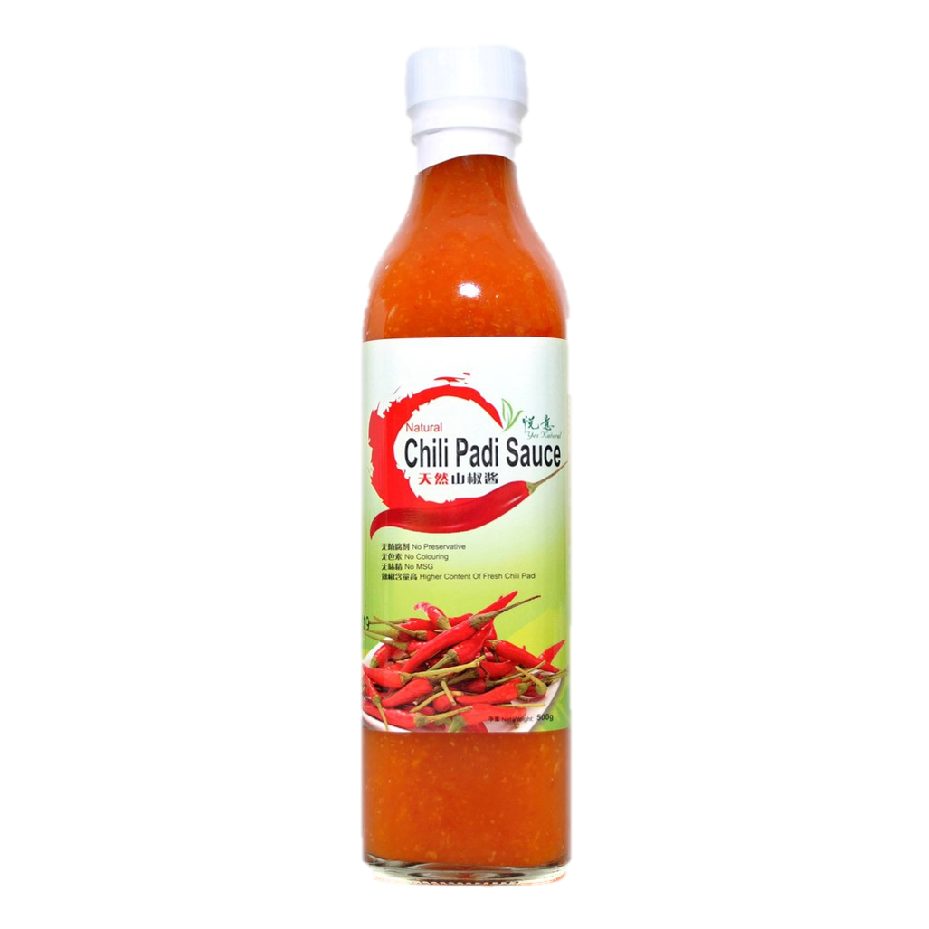 Natural Chili Padi Sauce (500ml)