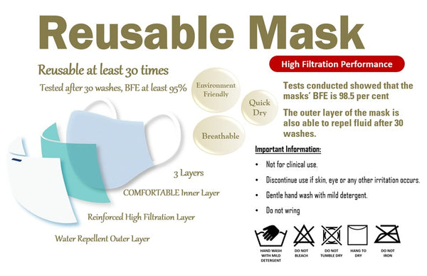 Reusable Mask *Adult (Neon Green)