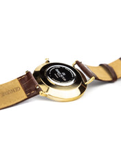 Load image into Gallery viewer, The Richemont Yellow Gold / Brown strap 40mm