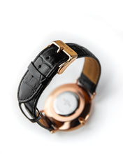 Load image into Gallery viewer, The Richemont Rose Gold / Black 40mm