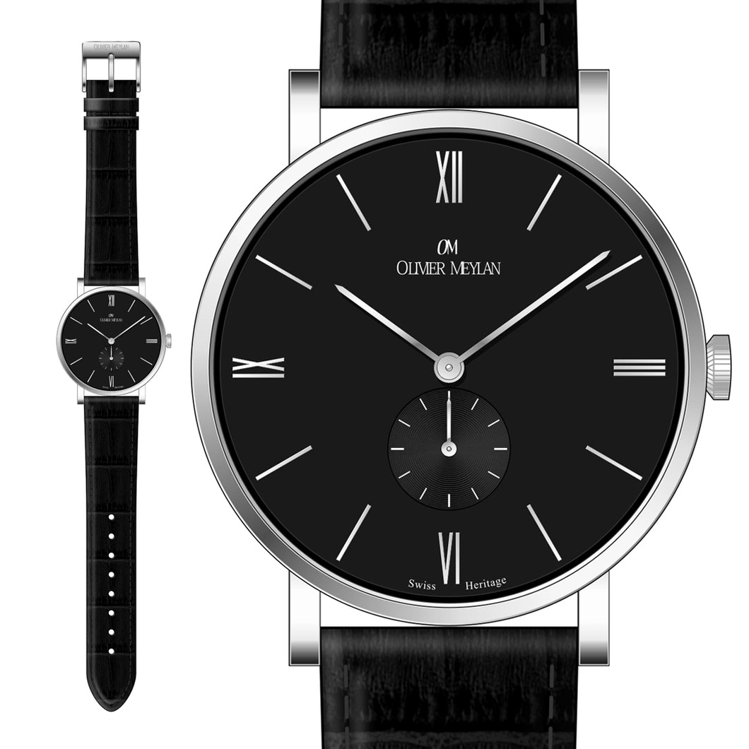 The Richemont Black/Silver 40mm