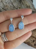 Silver Opal earrings drop