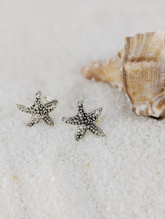 Textured Starfish earrings