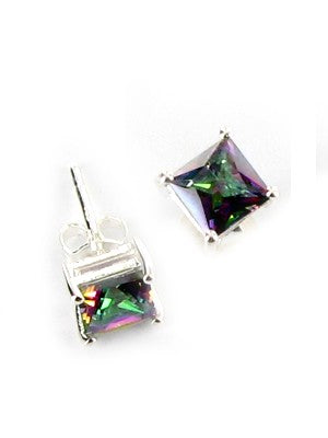Mystic Topaz sterling silver earrings