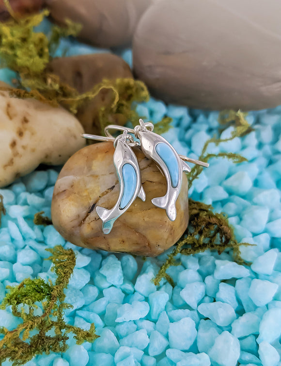 Dolphin  Larimar Earrings