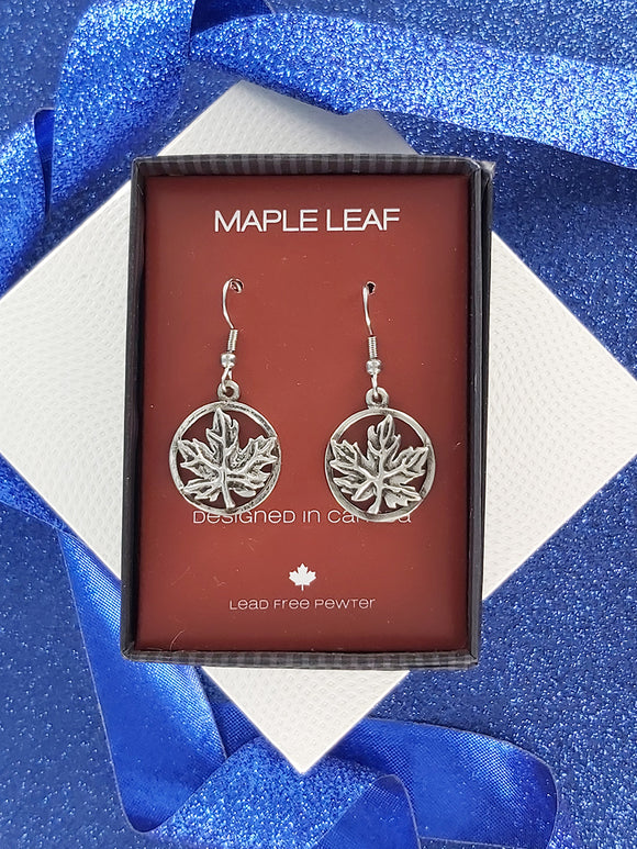 FIRST NATIONS INSPIRED | Maple leaf | Pewter