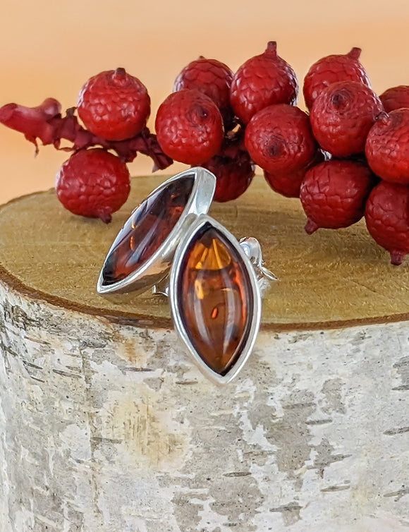 Diamond Amber Earrings