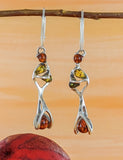 Multi color Amber Earrings