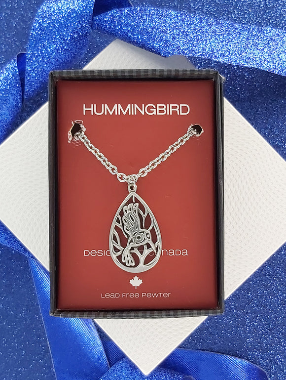 FIRST NATIONS INSPIRED | Hummingbird | Pewter