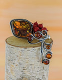 AUTUMN LEAVES | Amber | Silver | SALE