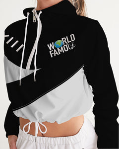 WORLD FAMOUS WOMENS CROPPED WINDBREAKER